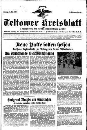 Teltower Kreisblatt vom 20.07.1934