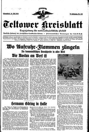 Teltower Kreisblatt vom 21.07.1934