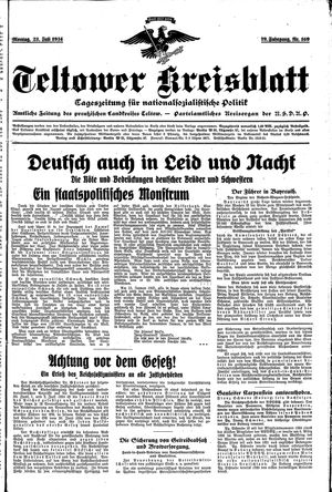 Teltower Kreisblatt on Jul 23, 1934