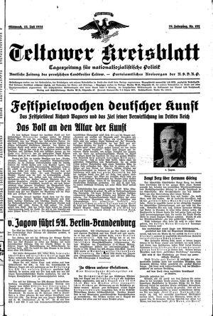 Teltower Kreisblatt vom 25.07.1934