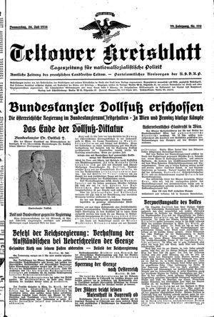 Teltower Kreisblatt vom 26.07.1934