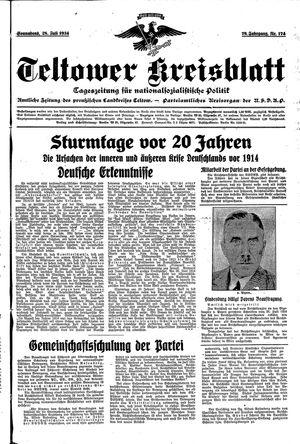 Teltower Kreisblatt vom 28.07.1934