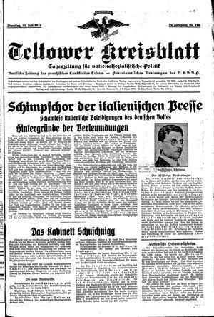 Teltower Kreisblatt on Jul 31, 1934