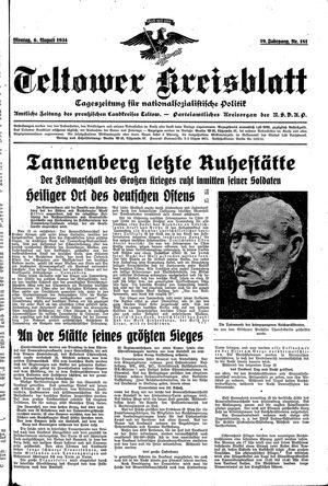 Teltower Kreisblatt vom 06.08.1934