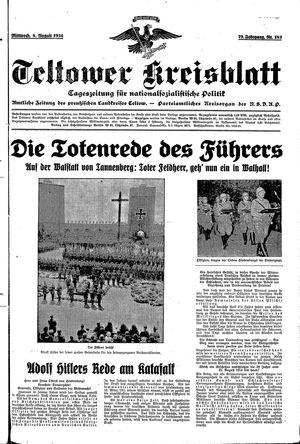 Teltower Kreisblatt vom 08.08.1934