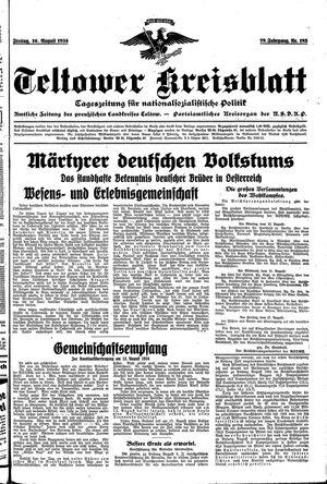 Teltower Kreisblatt vom 10.08.1934