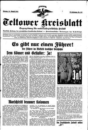Teltower Kreisblatt vom 13.08.1934