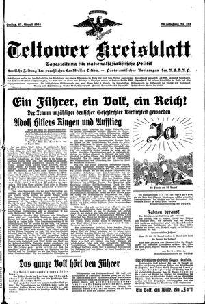 Teltower Kreisblatt vom 17.08.1934