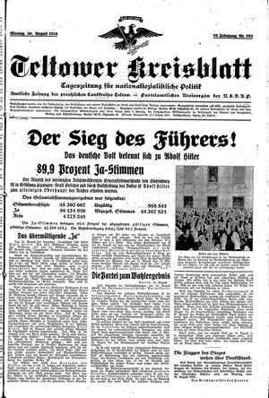 Teltower Kreisblatt vom 20.08.1934