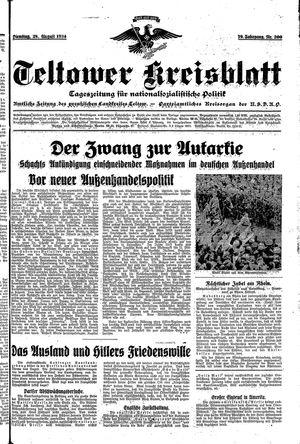 Teltower Kreisblatt vom 28.08.1934
