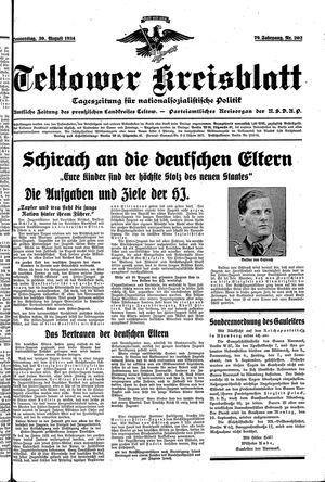 Teltower Kreisblatt vom 30.08.1934