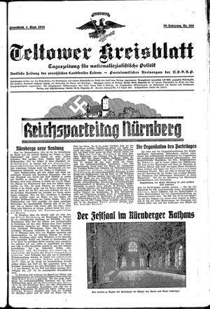 Teltower Kreisblatt vom 01.09.1934
