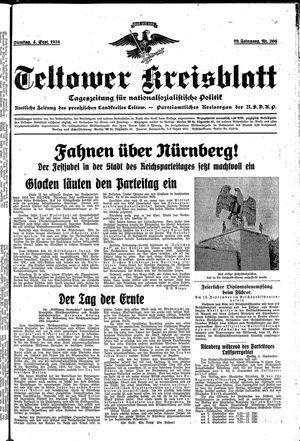 Teltower Kreisblatt vom 04.09.1934