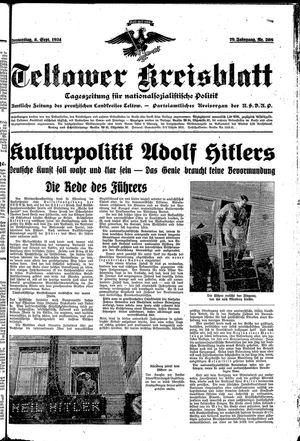Teltower Kreisblatt vom 06.09.1934