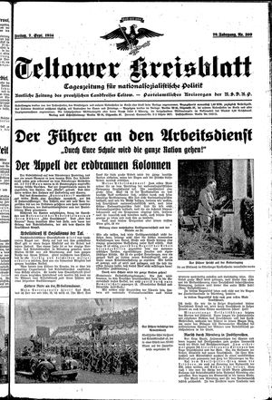 Teltower Kreisblatt vom 07.09.1934