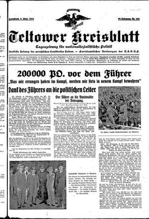 Teltower Kreisblatt vom 08.09.1934