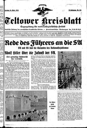 Teltower Kreisblatt vom 10.09.1934