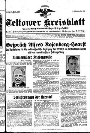 Teltower Kreisblatt vom 14.09.1934