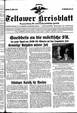 Teltower Kreisblatt vom 17.09.1934