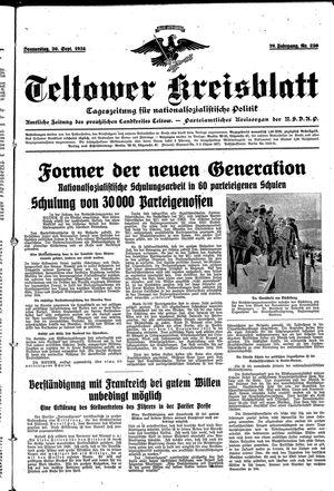 Teltower Kreisblatt vom 20.09.1934