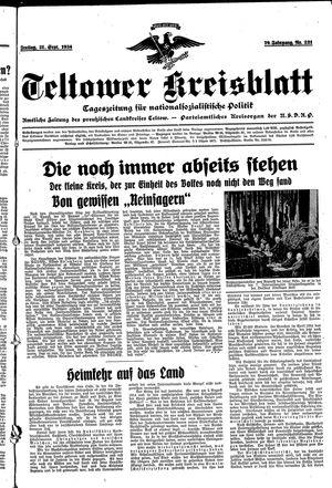 Teltower Kreisblatt vom 21.09.1934