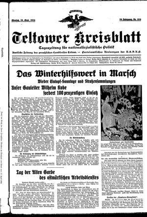 Teltower Kreisblatt vom 24.09.1934