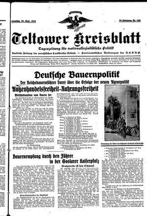 Teltower Kreisblatt vom 25.09.1934