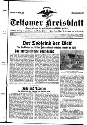 Teltower Kreisblatt vom 26.09.1934