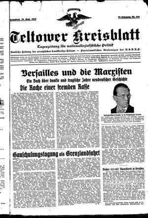 Teltower Kreisblatt vom 29.09.1934