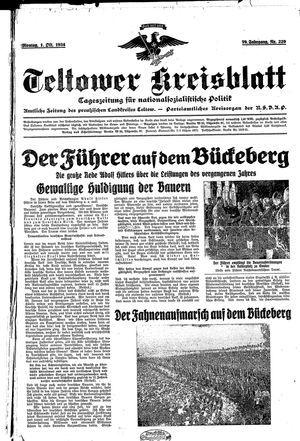 Teltower Kreisblatt vom 01.10.1934