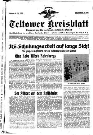 Teltower Kreisblatt vom 02.10.1934
