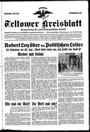 Teltower Kreisblatt vom 04.10.1934