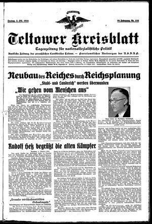 Teltower Kreisblatt vom 05.10.1934