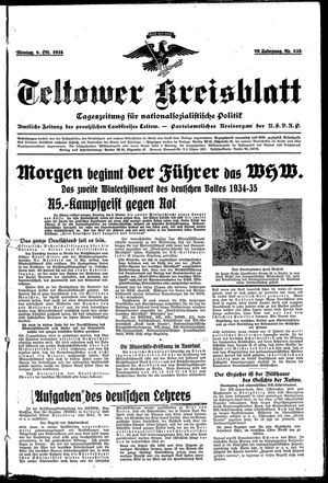 Teltower Kreisblatt vom 08.10.1934