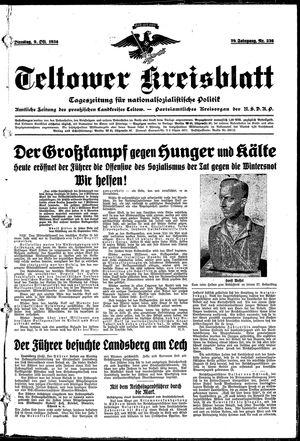 Teltower Kreisblatt vom 09.10.1934