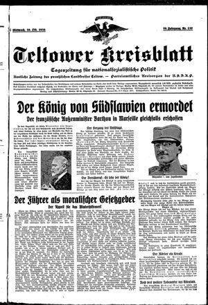 Teltower Kreisblatt vom 10.10.1934