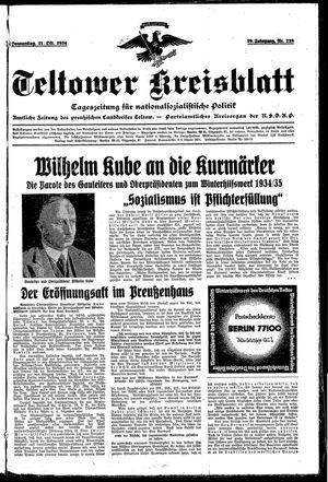 Teltower Kreisblatt vom 11.10.1934