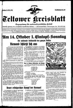 Teltower Kreisblatt vom 12.10.1934