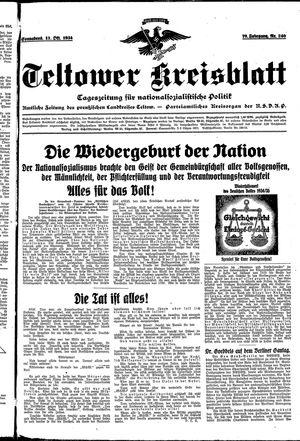Teltower Kreisblatt on Oct 13, 1934