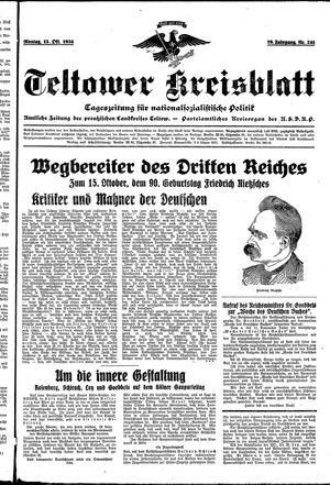 Teltower Kreisblatt vom 15.10.1934