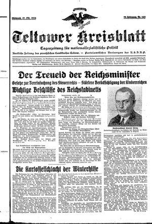 Teltower Kreisblatt vom 17.10.1934