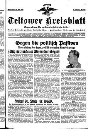 Teltower Kreisblatt vom 18.10.1934
