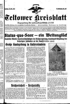Teltower Kreisblatt vom 19.10.1934