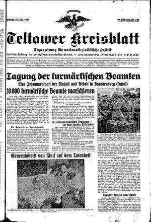 Teltower Kreisblatt vom 22.10.1934