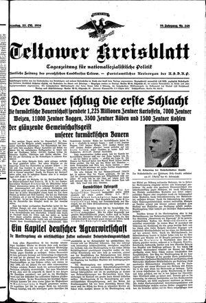 Teltower Kreisblatt vom 23.10.1934