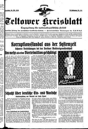 Teltower Kreisblatt vom 30.10.1934