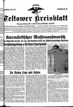 Teltower Kreisblatt vom 01.11.1934