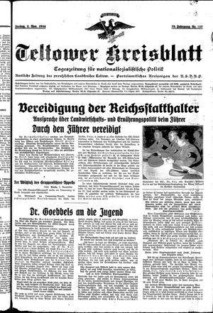 Teltower Kreisblatt vom 02.11.1934