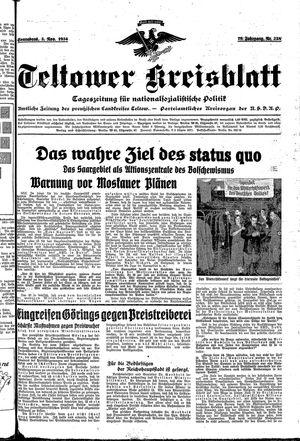 Teltower Kreisblatt vom 03.11.1934