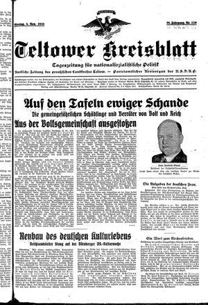 Teltower Kreisblatt vom 05.11.1934